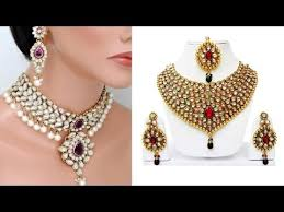 gold plated kundan with pearl jewelry sets traditional