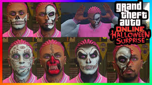 Skeleton Face Paint For Halloween by Gta 5 Online Halloween Surprise Dlc All New Face Paints Actions