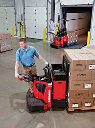 electric pallet truck with rider platform multifunction 8410