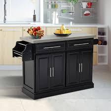 homcom rolling kitchen cart island cabinet drawers storage utility