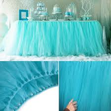 new customized table skirts for wedding decoration tulle tutu