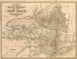 Map Of New York State by Map Of The Rail Roads Of The State Of New York Cartography