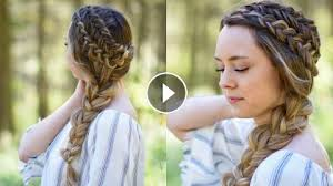 industrial revolution girls hairstyles double dutch side braid diy back to school hairstyle cute
