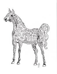 easy crafts free printable horse coloring 3 share