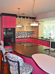 pink kitchen decorating ideas brown minimalist polished granite