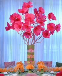 paper flower centerpieces a tissue paper flower centerpiece