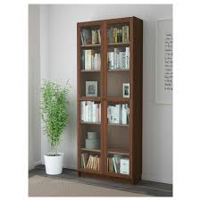 Library Bookcase With Glass Doors by Billy Oxberg Bookcase White 31 1 2x79 1 2x11 3 4