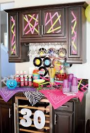 Neon Themed Decorations Party Decorations 30th Birthday Party Colour Themes 30th