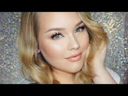 glowy daytime glam makeup hair tutorial