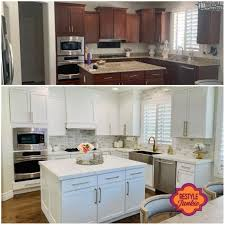 white kitchen cabinets refinishing restyle junkie cabinet refinishing diy painting more