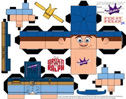 free printable cubeecraft fix felix jr wreck ralph