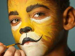 halloween makeup tutorial easy kid u0027s halloween makeup tutorial lion hgtv