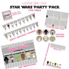 wars party supplies wars custom birthday party pack for wars party