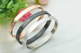 titanium steel love bracelet images 2018 rose gold color roman numerals stainless steel better jpg