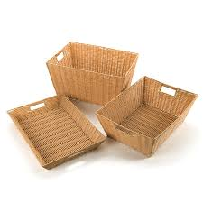 buy faux plastic wicker baskets tts