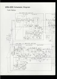 rare original factory sony str 222 am fm stereo receiver schematic