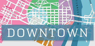 Chattanooga Tennessee Map by Downtown Chattanooga Districts