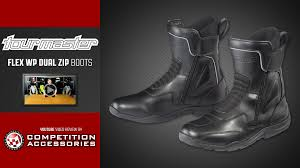 mens boots motorcycle tourmaster flex wp dual zip mens boot review youtube