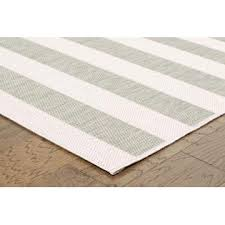 5x7 Outdoor Area Rugs 5x7 Nautical Strip Indoor Outdoor Area Rug