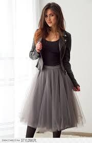 spodnica tiulowa szara tiulowa spódnica midi sklep internetowy vubu pl na stylowi pl