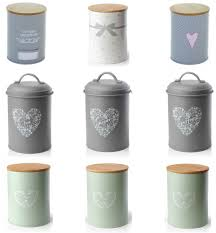 accessories storage jars for kitchen set of vintage shabby chic