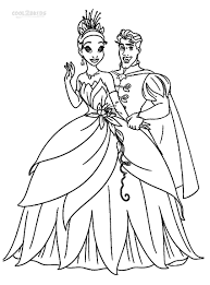 princess tiana coloring page princess and the frog coloring pages