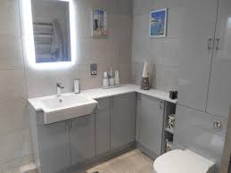 Bathroom Fitted Furniture by Linear Grey Luxury Ensuite Curtis Bros