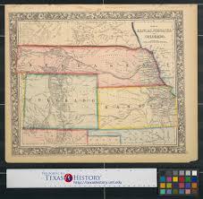 Gateway Colorado Map Map Of Kansas Nebraska And Colorado The Portal To Texas History