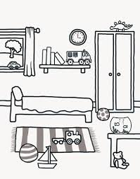 printable coloring pages rooms house