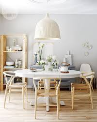 scandinavian dining table and chairs interior design in beautiful
