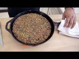cornbread rice dressing with tasso ham thanksgiving