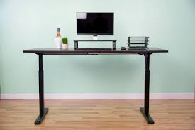 desk v101m black manual height adjustable stand up desk frame