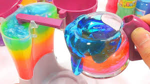 kitchen collection slime toys coffeepot combine water clay diy
