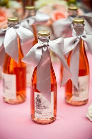 chagne wedding favors an entry from note to self pink moscato favors and lace ribbon