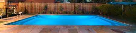 contemporary pool design has shallow ends and a deep centre