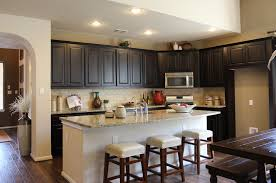 espresso kitchen island black kitchen cabinets with white island kitchen decoration