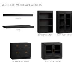 file cabinet with hutch build your own reynolds modular cabinets pottery barn