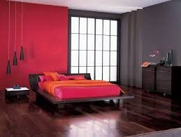 peculiar bedroom wall paint including 2 drawer red night stand