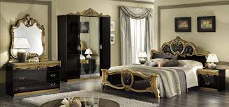 Bedroom Decorating Ideas Black And White Black Gold Wall Design And White Bad Design In Bad Room For Home
