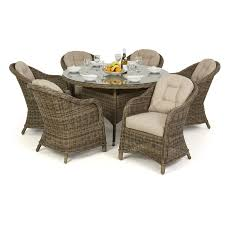 Maze Kitchen Table - maze rattan winchester round dining table with 6 round chairs