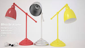 desk lamp with bulb 3d model cgtrader