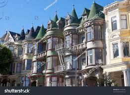 classic victorian houses san francisco stock photo 97187381