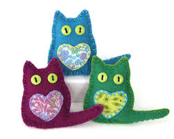 felt cat ornaments felt christmas ornaments christmas cat