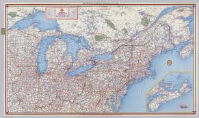 A Picture Of The Map Of The United States by Shell Highway Map Northeastern Section Of The United States
