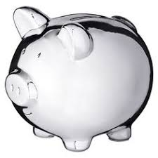 silver piggy bank for baby 36 college fund piggy bank baby shower favors pig piggy banks