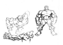 marvel comics of the 1980s 1985 hulk sketches by john byrne