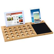 Lap Desk With Mouse Pad Songmics Bamboo Lap Desk Board Multi Tasking Laptop Tablet