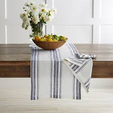 table runner stripe table runner williams sonoma