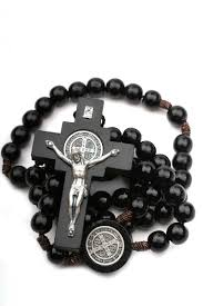 black rosary black wood st benedict rosary on cord rosarycard net