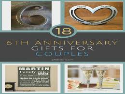 6th anniversary gifts for 18 great 6th wedding anniversary gift ideas for couples 6th